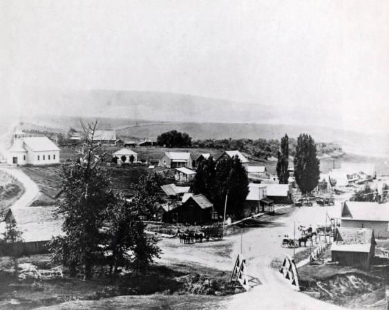 Home of ID State University Aerial View of Pocatello Idaho Postcard Car etc
