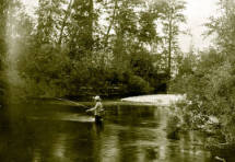 Image of Fishing at Two Mouth Creek [flows into Priest Lake]. Idaho