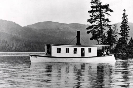 "Image of Side view of the steamboat ""W.W. Slee."""