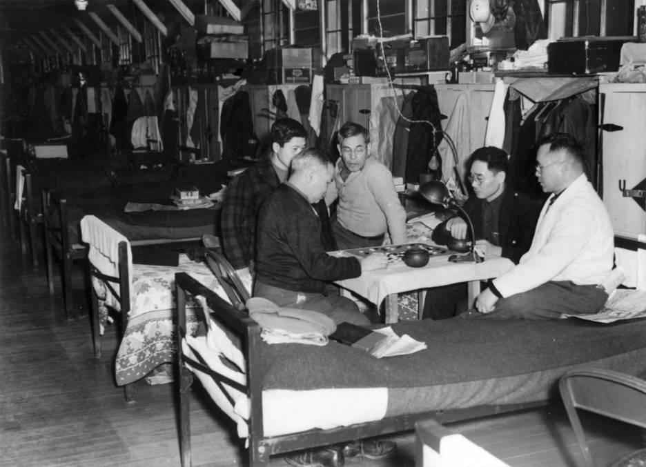 Men playing game at Kooskia
